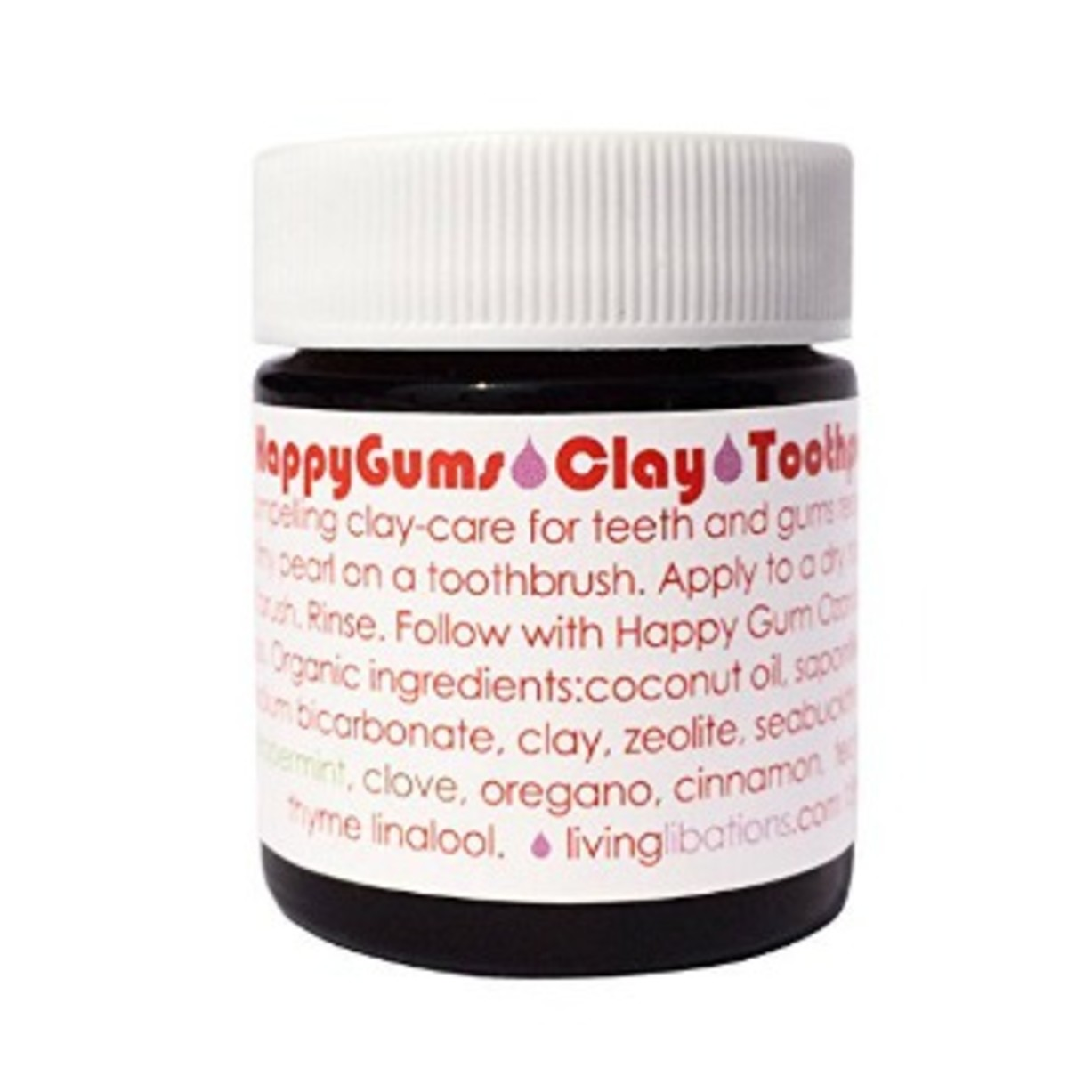Living Libations Happy Gums Clay Toothpaste