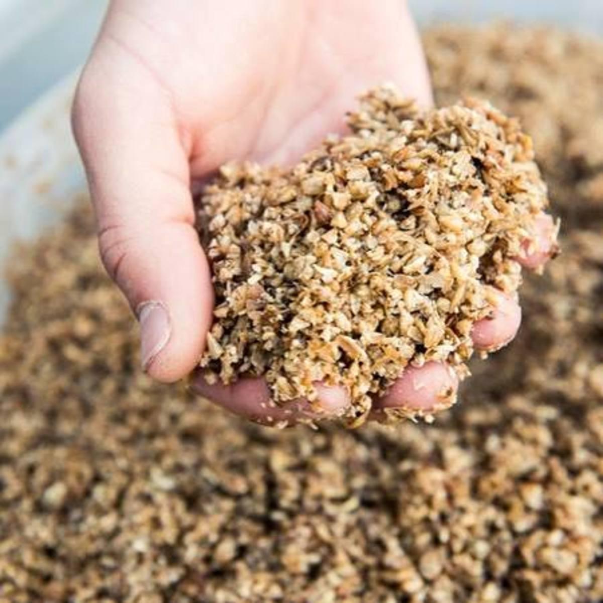Edible food waste comes in grain form.