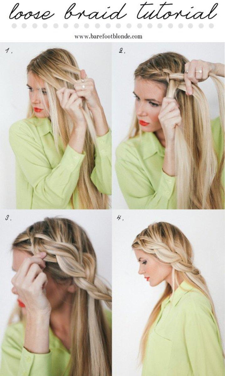 half braid hair hacks