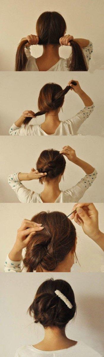 easy updo hair hacks