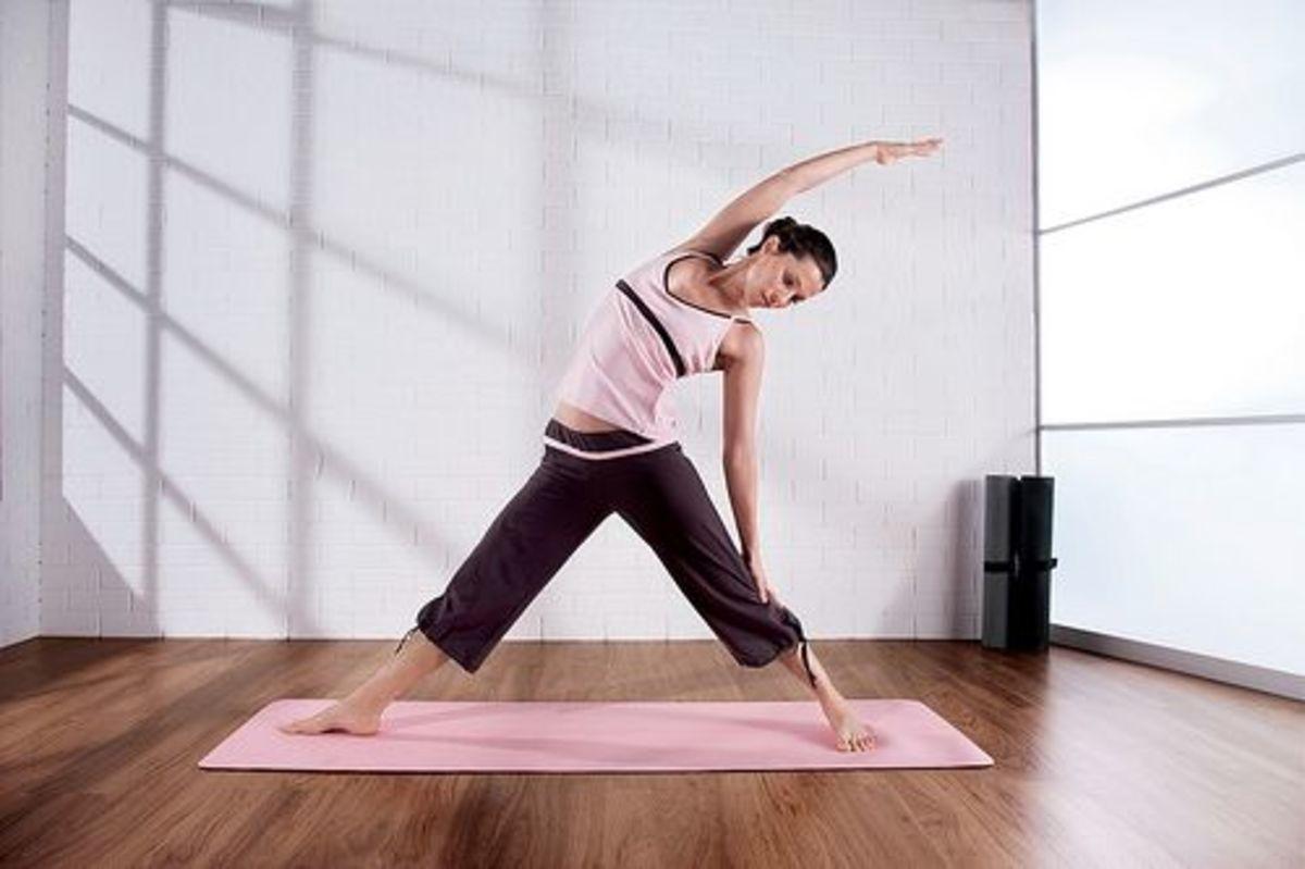 yoga PMS woman