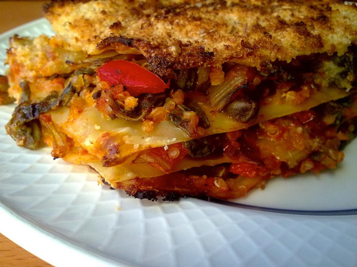 Healthy recipes are fun to make: like vegan lasagna.