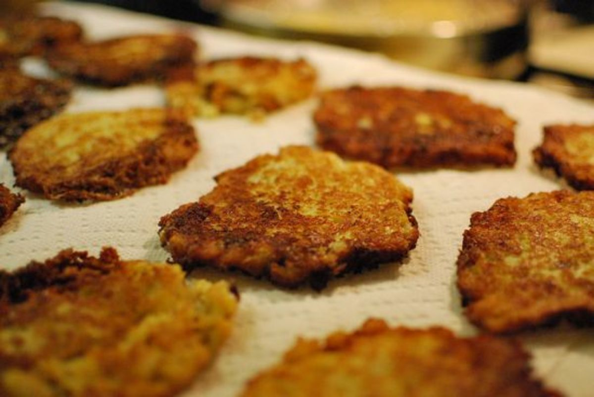 Hanukkah latkes are a traditional Jewish food
