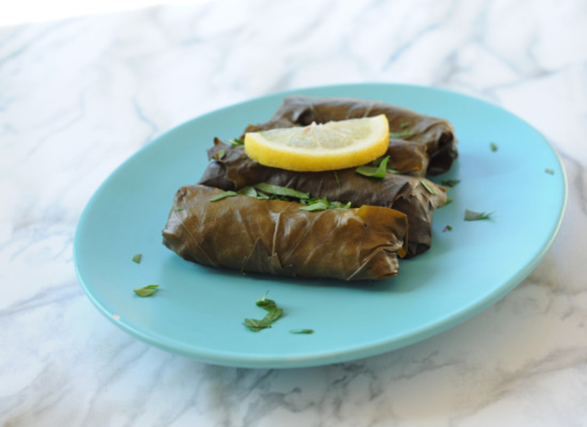 Grape leaves, conscious eating