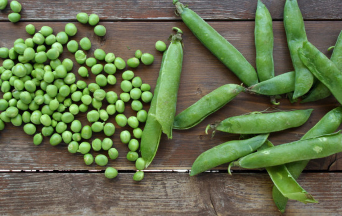 Conscious eating, peas