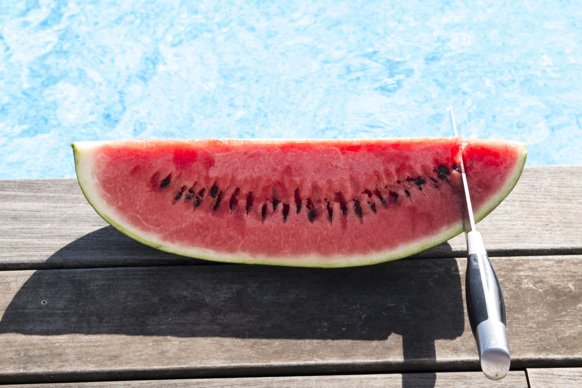 Watermelon by pool