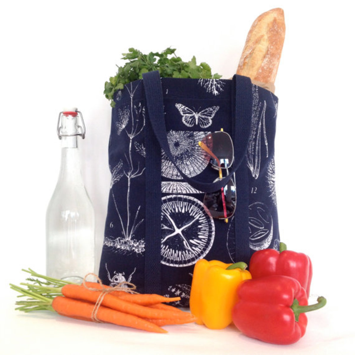 Make your own reusable grocery bags.