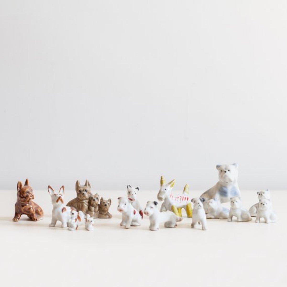 Ceramic figurine collection.