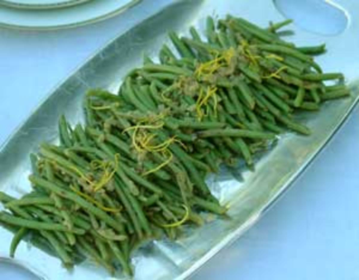 Organic Haricots Verts in Fresh Tarragon Butter