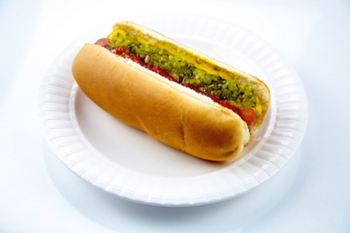 Hot Dog on a Plate