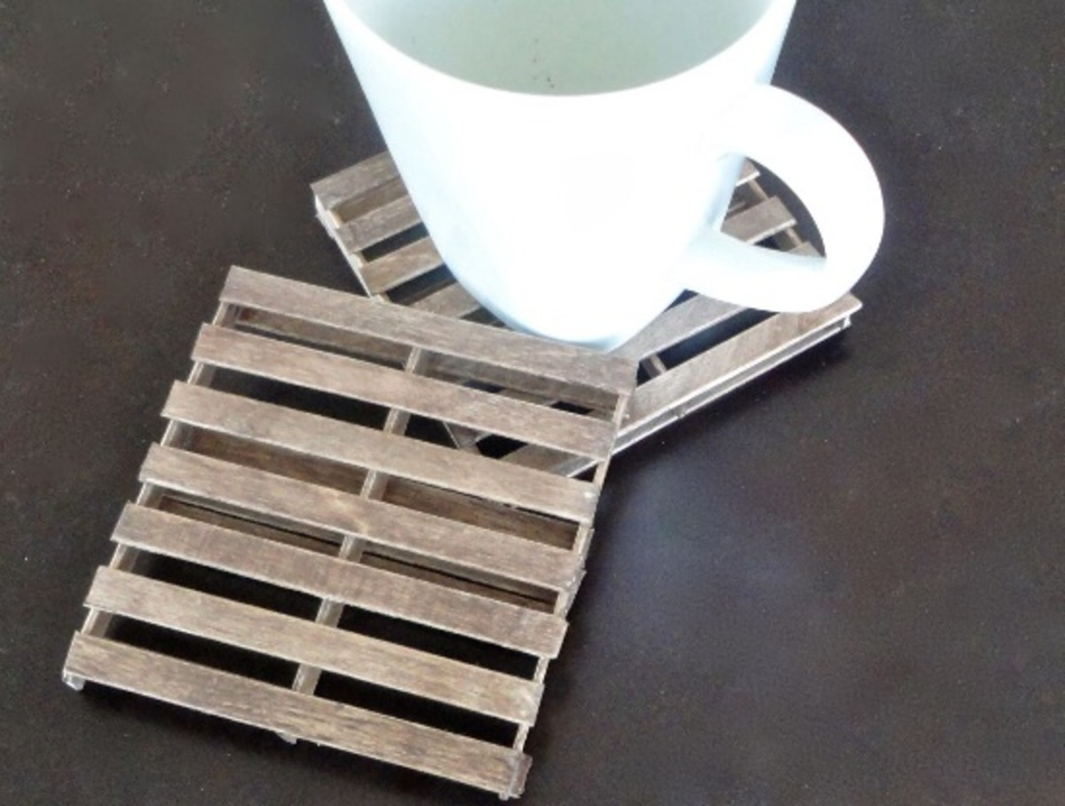 Popsicle stick coasters