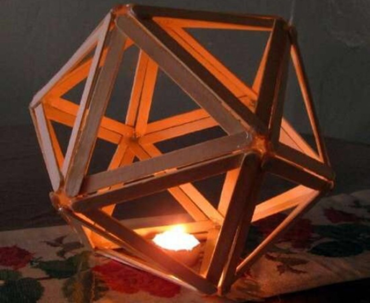 Popsicle stick candle holder