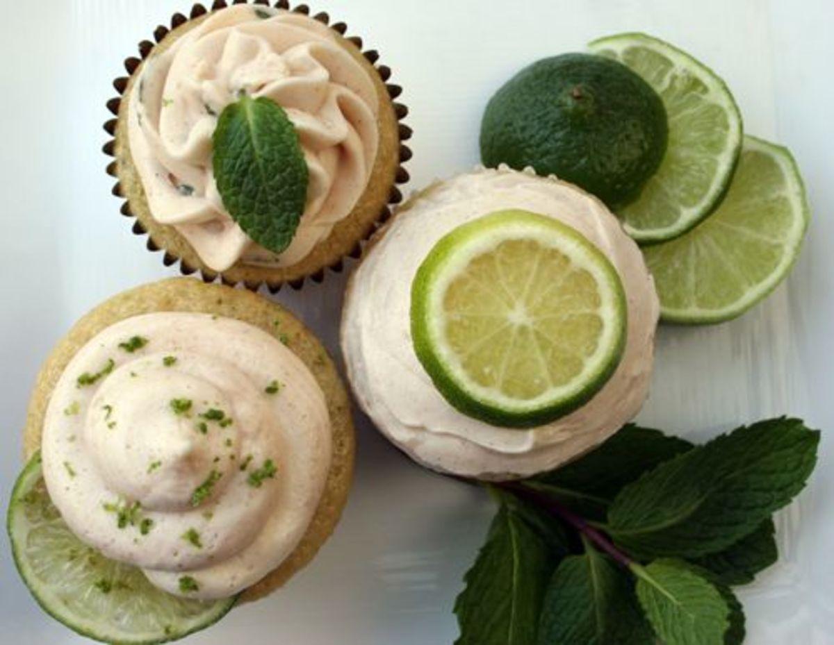 vegan mojito cupcakes
