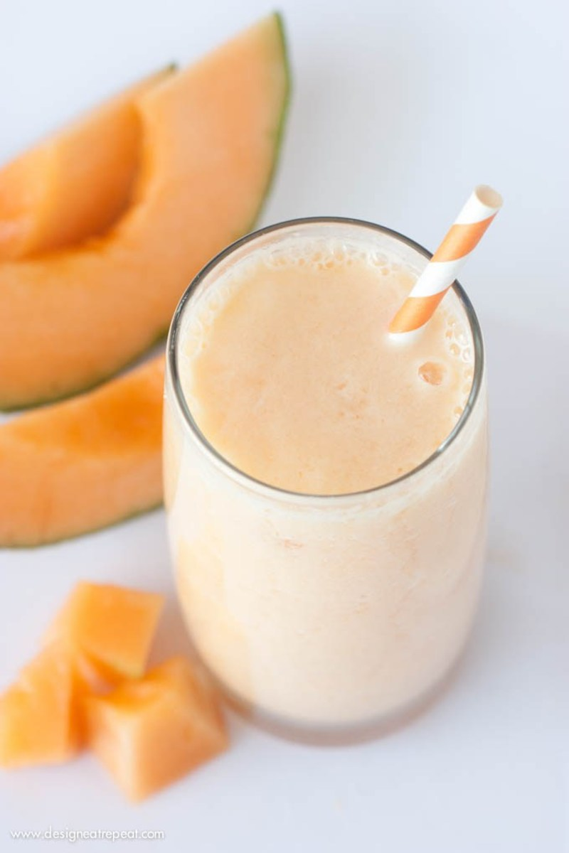 peach cantaloupe smoothie