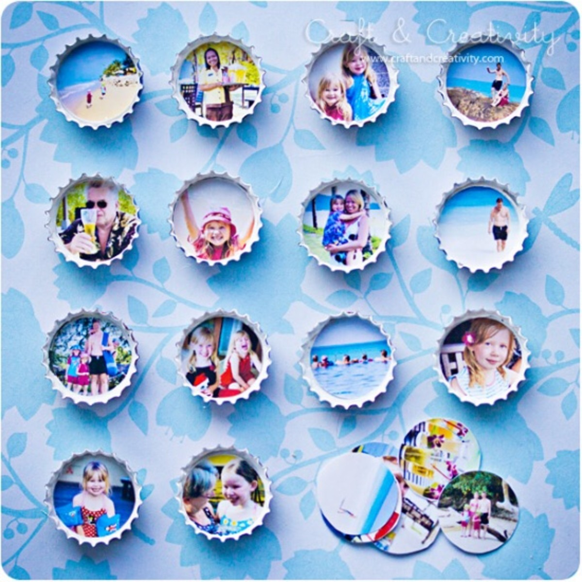 bottlecap photo ideas