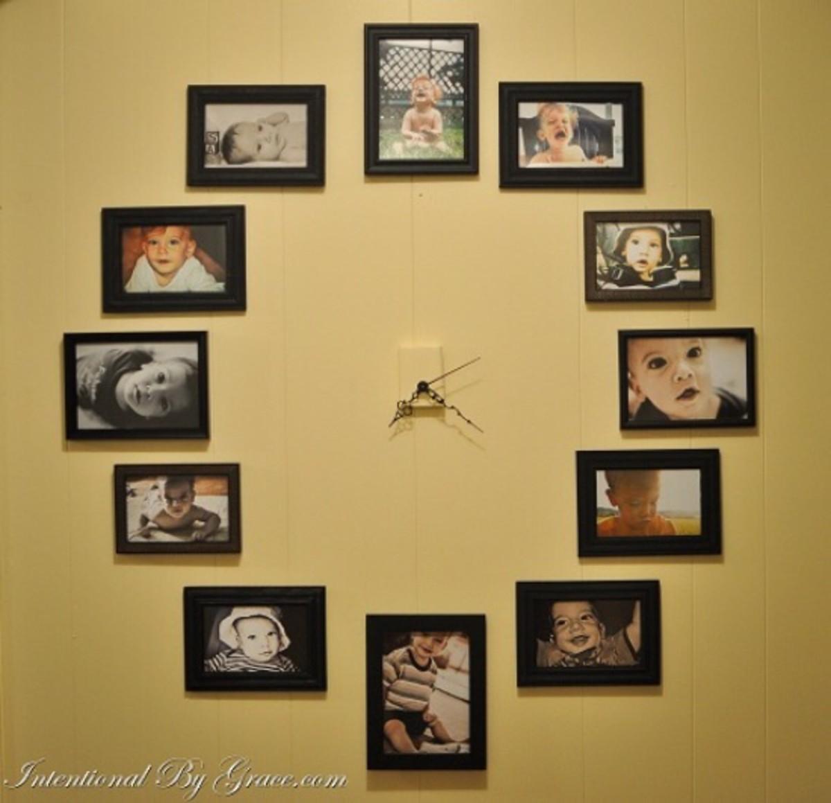 clock photo display