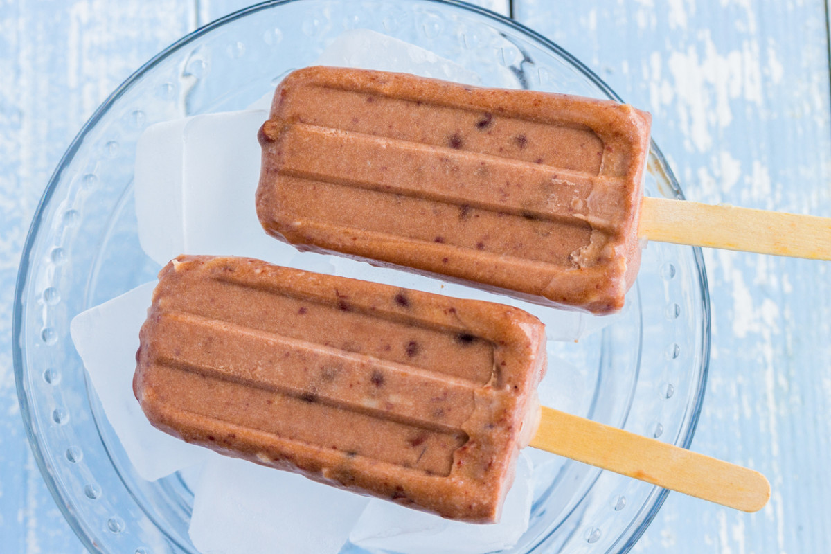 Hawaiian ice pops made with shaved coconut and sweetened adzuki beans