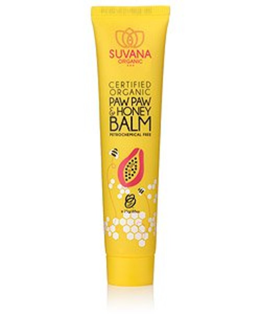 Gluten Free Beauty Suvana Beauty Paw Paw & Honey Organic Lip Balm