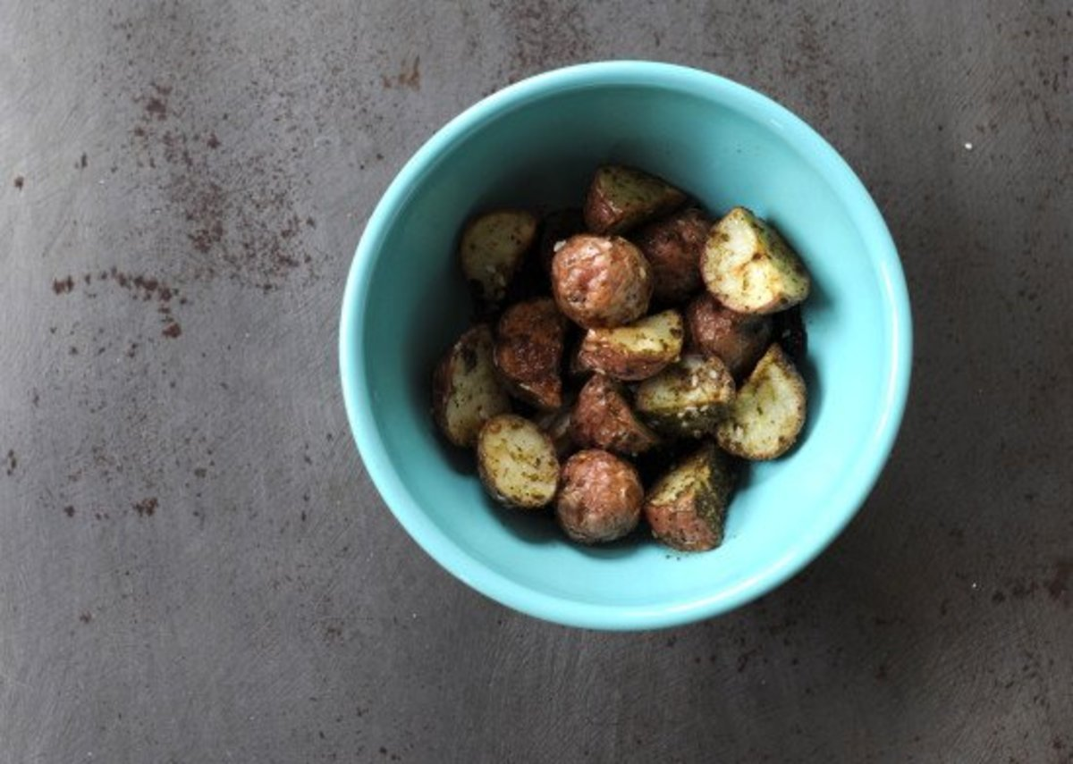 roasted potatoes are a comfort food