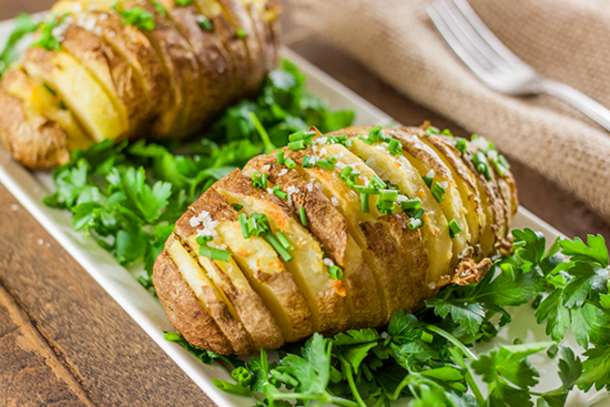 potatoes  Hasselback are deliciously vegan