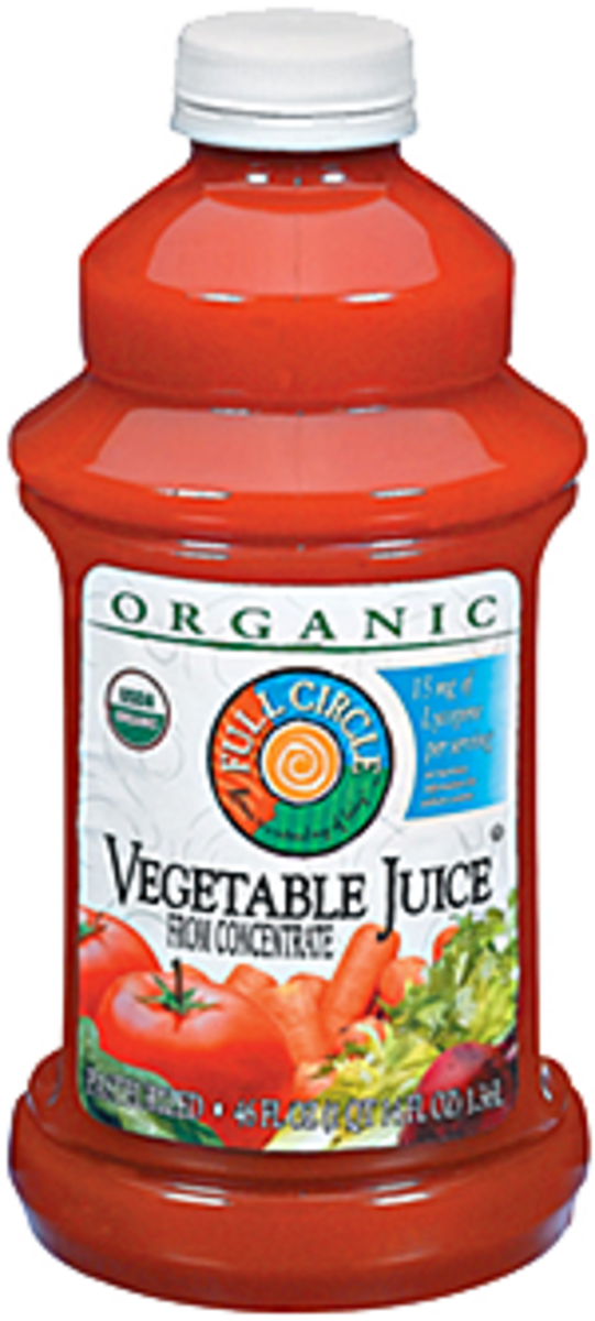 Organic vegetable juice