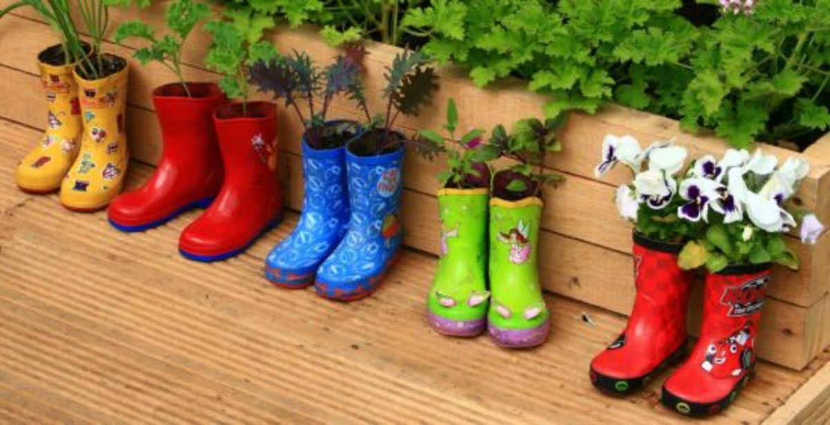 DIY gardening ideas, container garden