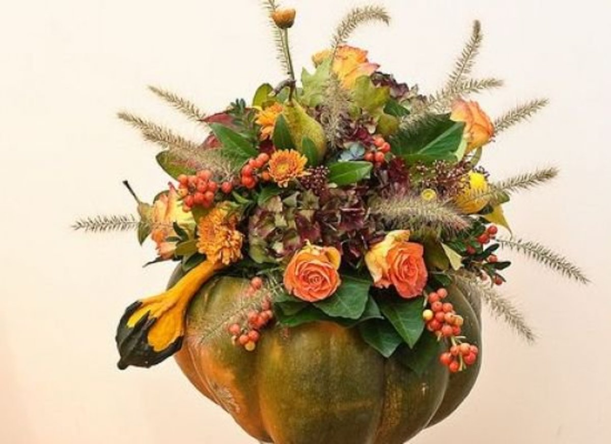 Pumpkin table decor