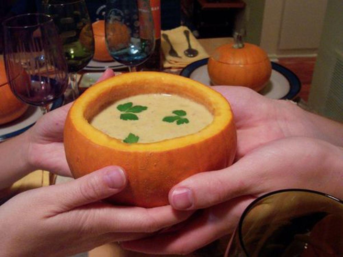 Pumpkin pot of stew