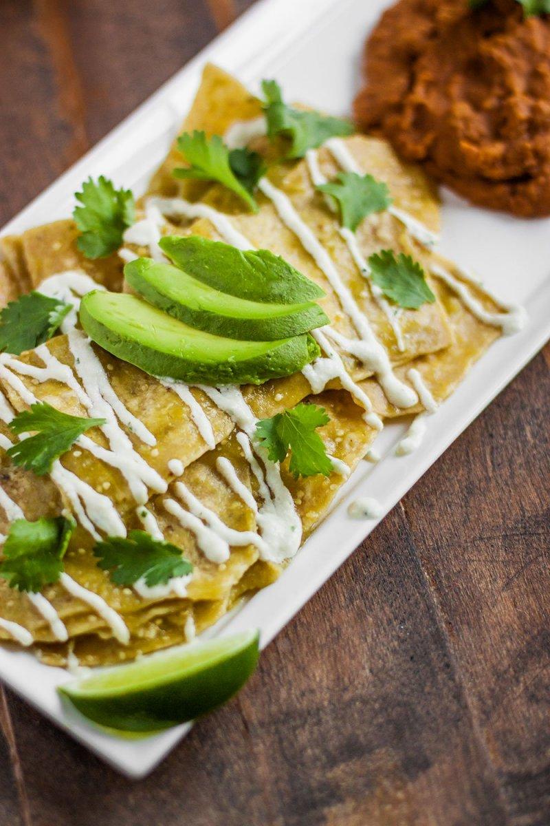 Vegan Chilaquiles Recipe with Cashew Cream and Salsa Verde