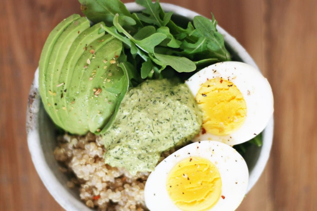 Make this Savory Breakfast Bowl with Magic Green Sauce ASAP