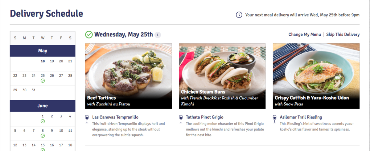 Blue Apron Meal Options