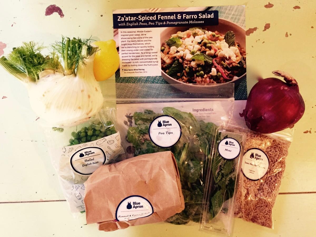 Blue Apron Recipe Za/tar Spiced Fennel & Farro Salad
