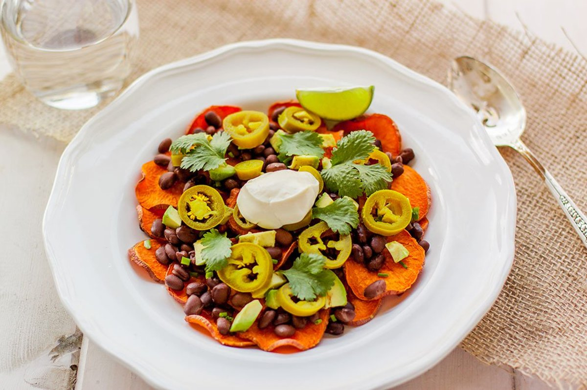 Sweet Potato Nachos with Avocado Recipe