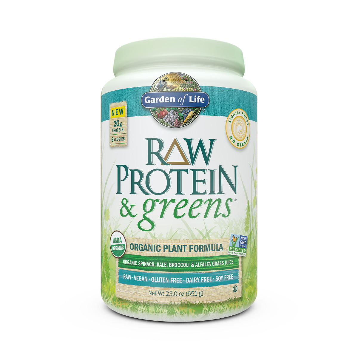 Garden of Life - RawProtein & Greens - LightlySweet