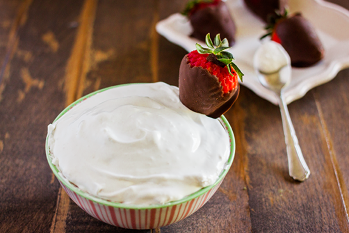 Chocolate Covered Strawberries with Coconut Whipped Cream Recipe