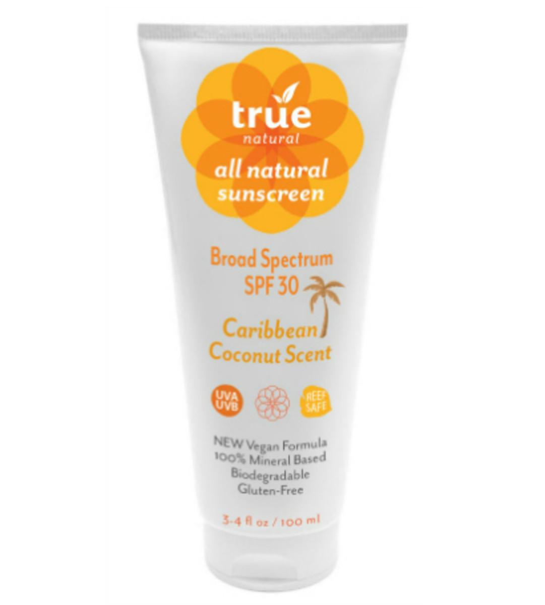 Natural Sunscreen True Natural Caribbean Coconut