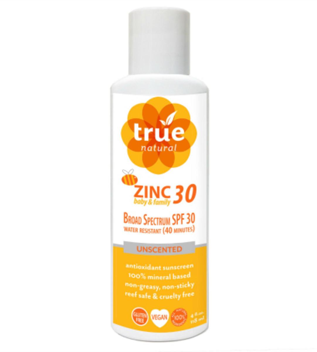 Natural Sunscreen True Natural Zinc Baby