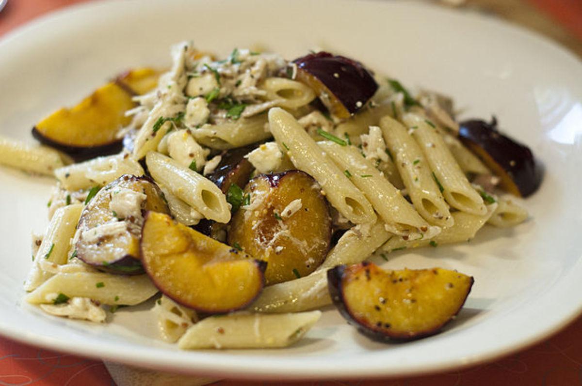plum pasta salad