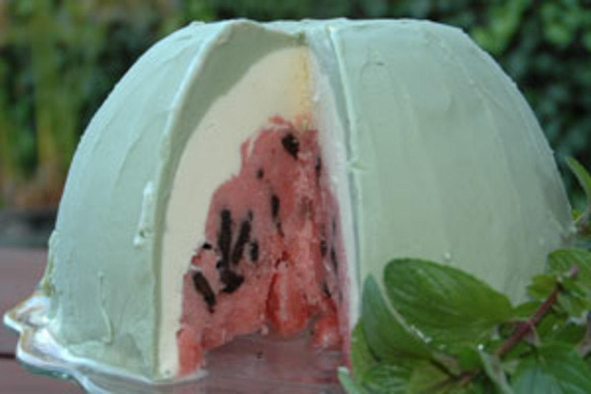 organic watermelon bombe