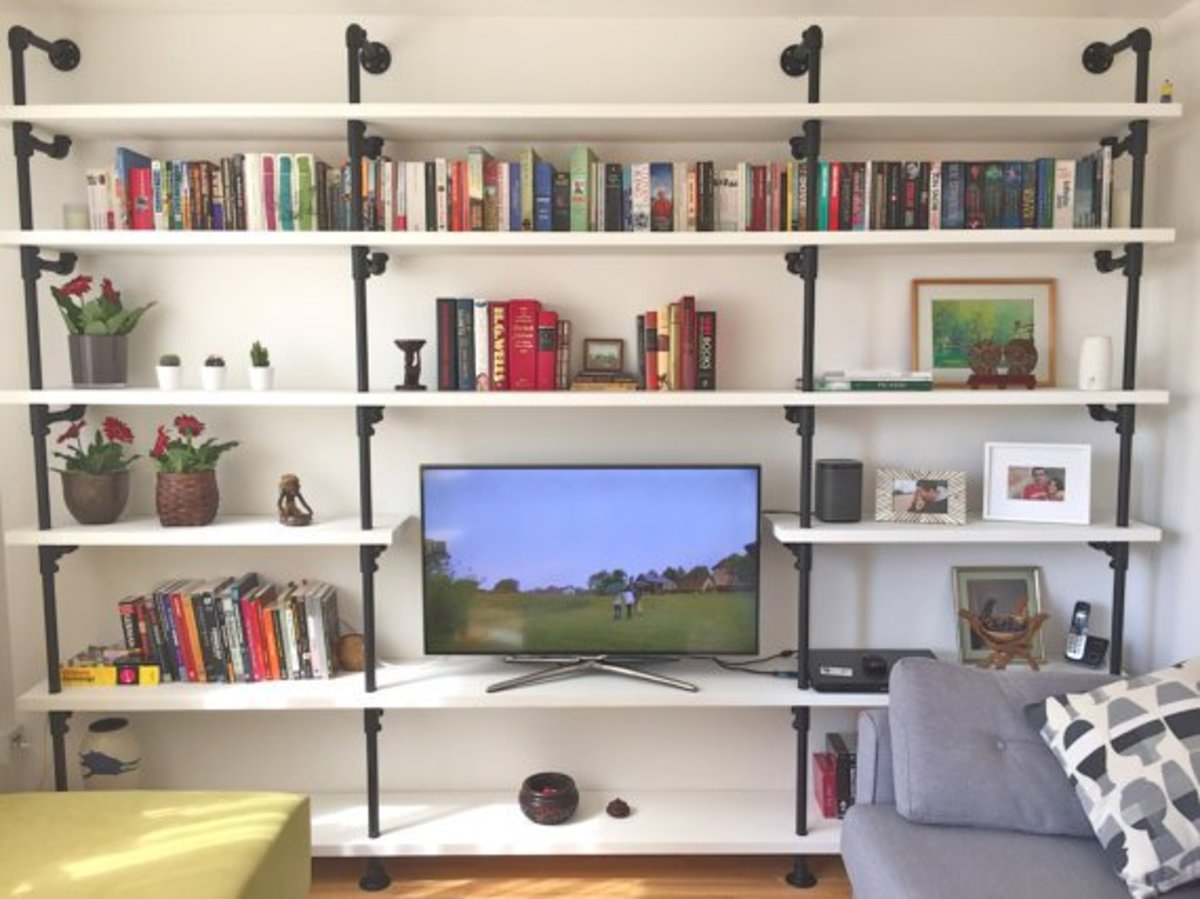 Very cool and affordable, DIY book shelves you can make.