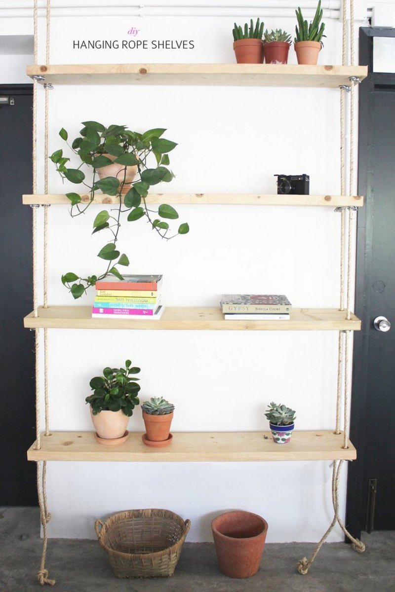Rope Book Shelves