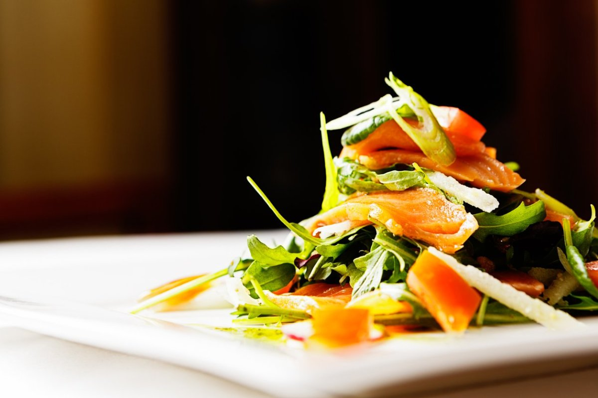 cured salmon salad