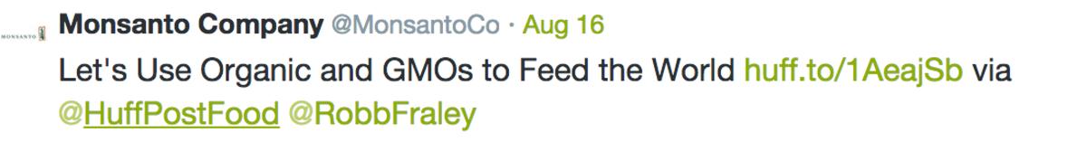 Monsanto Tweets