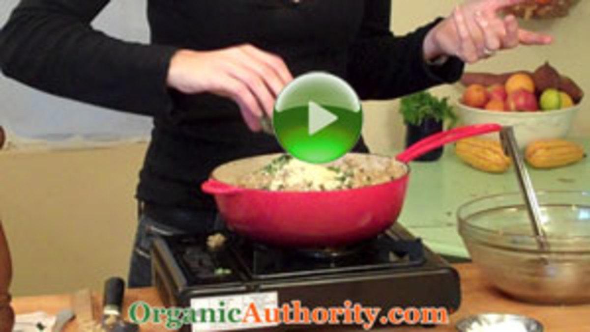 Wild Mushroom and Black Truffle Organic Risotto