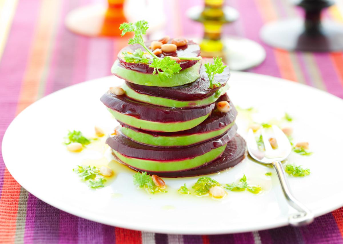 stacked beet salad