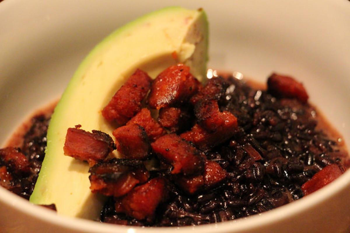 black rice risotto