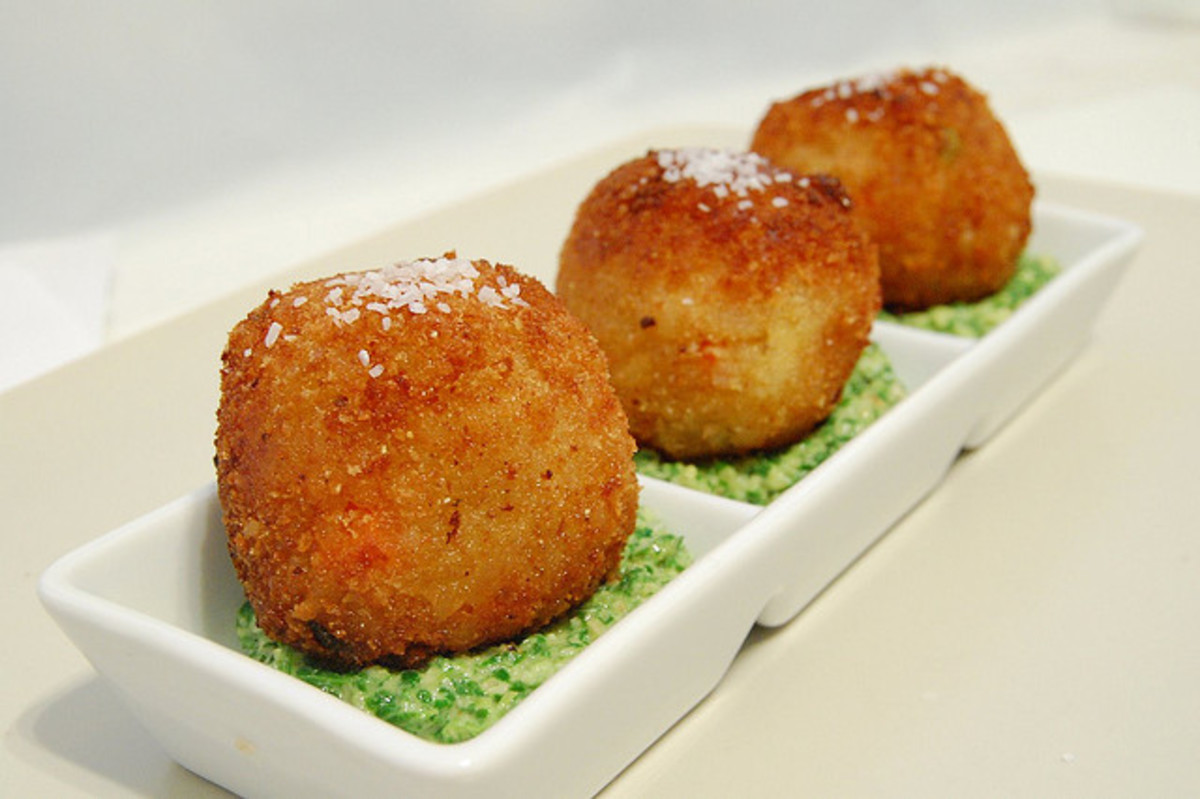 turnip pesto arancini