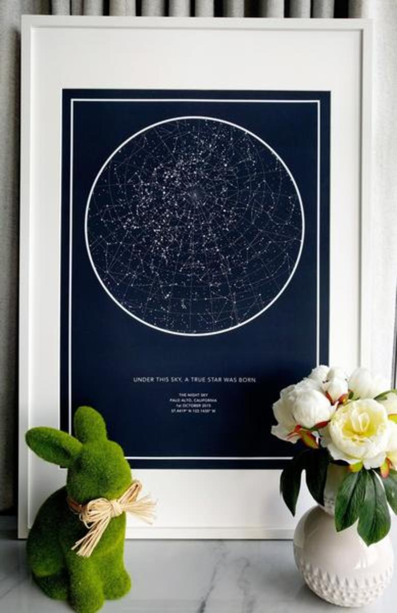 The Night Sky Custom Star Maps