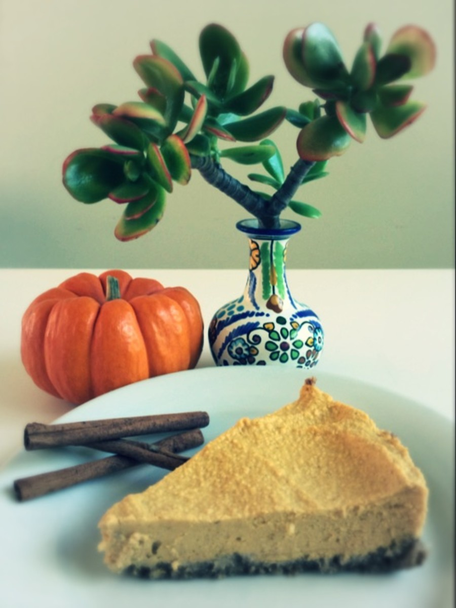Pumpkin Vegan Cheesecake