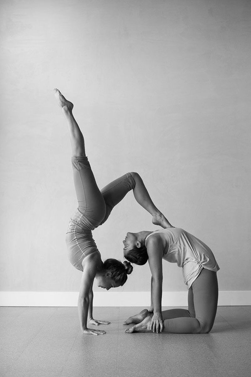 camel pose, handstand, partner yoga poses
